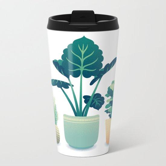 Potted Plants Metal Travel Mug