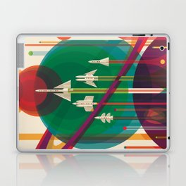 NASA Retro Space Travel Poster The Grand Tour Laptop & iPad Skin