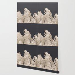 Sepia Banana Leaves Dream #3 #foliage #decor #art #society6 Wallpaper