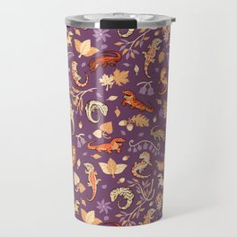 Autumn Geckos in purple Travel Mug