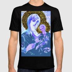 Mary and Jesus  MEDIUM Mens Fitted Tee Black