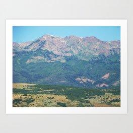 To Wyoming Art Print
