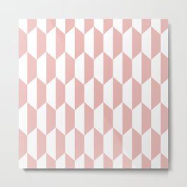 Classic Trapezoid Pattern 234 Dusty Rose Metal Print