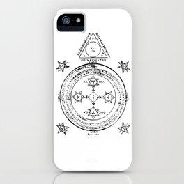 The Solomonic Magic Circle Black White iPhone Case
