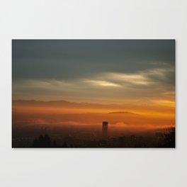 Sunrise: Orange Flood Canvas Print