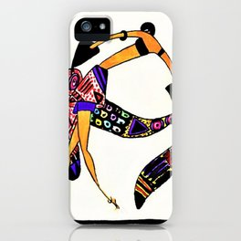 Untitled - Dancer from The Essence of the mode of the day, 1920 by Janine Aghion iPhone Case