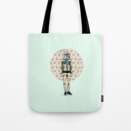 Hipster Owl Man Tote Bag