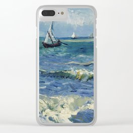 Vincent Van Gogh - Seascape at Saintes-Maries, 1888 Clear iPhone Case