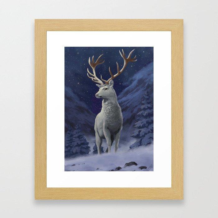 The White Hart Framed Art Print