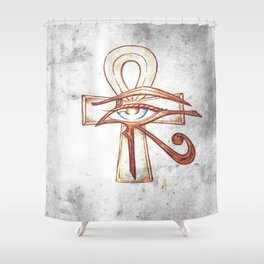 Eye of Horus with Ankh Shower Curtain