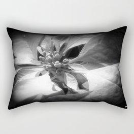 Pale Yellow Poinsettia 1 Dark Rectangular Pillow