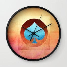 Ace of Spades III Wall Clock