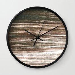 Dark lava abstract watercolor Wall Clock