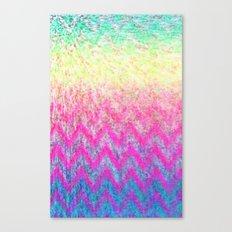 Hippie Chevron Canvas Print