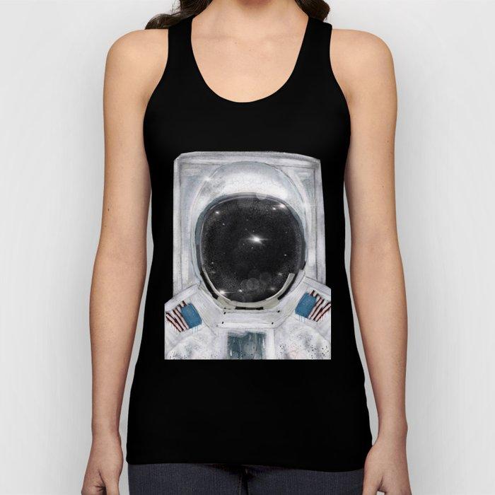 space selfie Unisex Tank Top