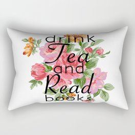 Drink Tea and Read Books Rectangular Pillow