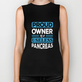 Diabetes Awareness Apparel Funny Pancreas Diabetic Gift Biker Tank