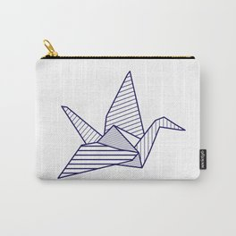 Swan, navy lines Carry-All Pouch