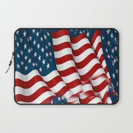 "ORIGINAL  AMERICANA FLAG ART ""STARS N' BARS"" PATTERNS Laptop Sleeve"