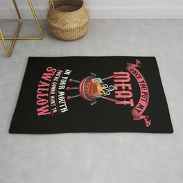 You're Gonna Want to Swallow | BBQ Barbecue Rug