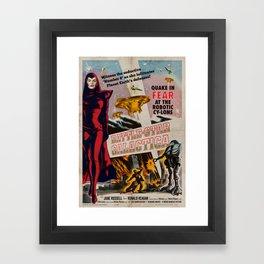 Vintage Battle-Star Galactica Vintage 1955 Theatre Poster Framed Art Print