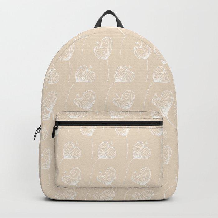 Delicate Floral Pink Pattern Backpack
