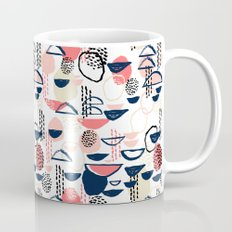 Cheli - modern abstract art print brushstroke painting trendy hipster peach pink pastel navy abstrac Mug