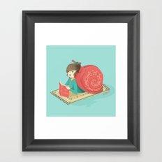 Cozy snail Framed Art Print