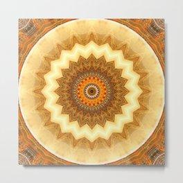 Mandala gold of the incas Metal Print