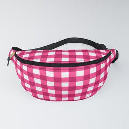 Rose Pink Gingham And Checkered Pattern Fanny Pack