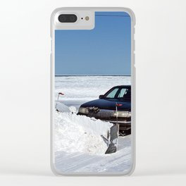 Lincoln Plow Car Clear iPhone Case