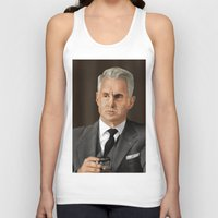 mad men Tank Tops featuring Roger Sterling (Mad Men) by San Fernandez