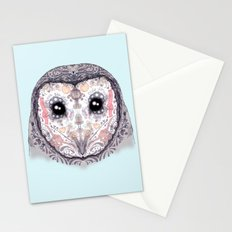 Sugar Skull Labyrinth Owl Stationery Cards