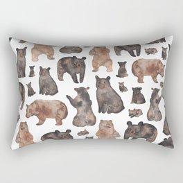 Woodland Bear Pattern Rectangular Pillow
