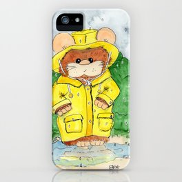 Hammy in a Raincoat iPhone Case