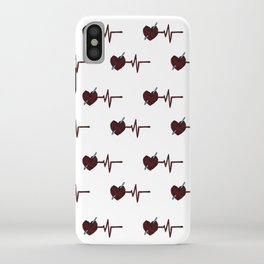 Crochet Heart Yarn Heartbeat Yarn Pulse iPhone Case
