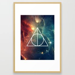 Deathly Hallows Nebula HP Framed Art Print