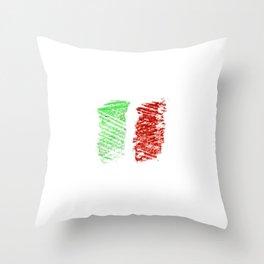 flag of Italia chalk- Italy,Italia,Italian,Latine,Roma,venezia,venice,mediterreanean,Genoa,firenze Throw Pillow