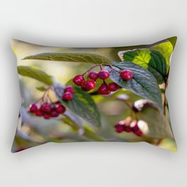 Poison or not : Red berries and green leaves Rectangular Pillow