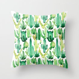 cactus camuflage Throw Pillow