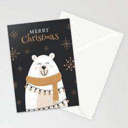 Christmas Polar Bear Stationery Cards