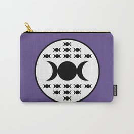 Triple Goddess Full Moon - on Ultra Violet Carry-All Pouch
