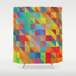 Meduzzle: Color Chaoses Shower Curtain