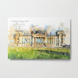Reichstag Berlin Germany Metal Print