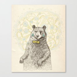 Smarter than the average bear Canvas Print