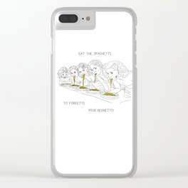 Girls and the Spaghetti Clear iPhone Case
