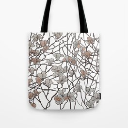 pattern of branches in pastel colors art Tote Bag