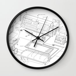 Korg MS-20 - exploded diagram Wall Clock