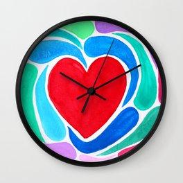 Swirled Hearts Wall Clock