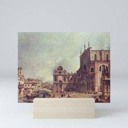 Canaletto - Santi Giovanni e Paolo and the Scuola di San Marco Mini Art Print